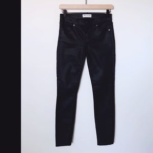 Madewell   Wax Coated Skinny Skinny Jeans Size 25